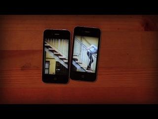 Клип на 3х айфонах